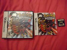 Pokemon Versión Platinum para Nintendo DS-Completo con Manual