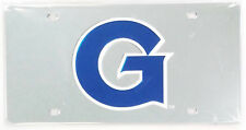 Georgetown Hoyas Silver SD Premium Laser Acrylic License Plate Tag University of