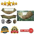 Camping Hammock Automatic Pop Up Mosquito Net Portable Outdoor Hiking Beach Camo