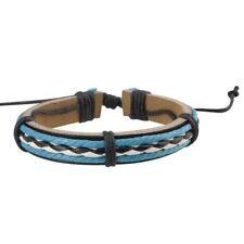 New Zodaca® Style Handmade Genuine Leather Bracelet for Men Punk Braided Sufer