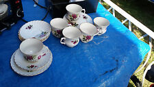 6X Old Foley James Kent  Fine China Tea Set  trios plates cups saucer  people