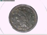 1845 Large Cent PCGS Genuine Env. Damage - F Details 28709691 Video