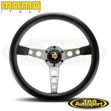 MOMO PROTOTIPO SILVER Spoke Leather Steering wheel 350mm