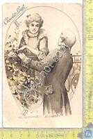 Cartolina - Postcard - Bonne Annee - Chocolat Louit - 1905