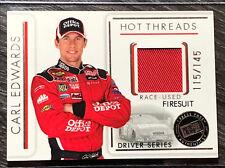 2007 PRESS PASS PREMIUM #HTD14 CARL EDWARDS Nascar Race-Used FIRESUIT #115/145