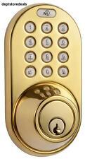 MiLocks Keyless Entry Deadbolt Door Lock w/ Electronic Digital Keypad Brass User