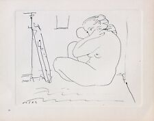 Pablo Picasso Lithograph Dessins First Edition Planche 5 Nude 1952 Excellent