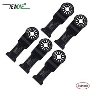 5-pack Newone HCS Multi Tool Blades Starlock Compatible Fein Bosch 32mmx50mm