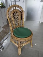 Stuhlkissen rund 40 Ø cm x 4 cm Sitzkissen grün , 50% Baumwolle 50% Polyester