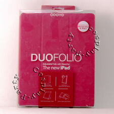 Odoyo Duo Folio Flip Book Case w/Foldable Stand Cover for iPad 4/3/2 Cherry Pink