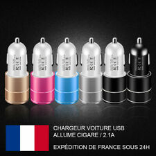 CHARGEUR VOITURE USB / ALLUME CIGARE / 2.1A / 2 PORTS USB
