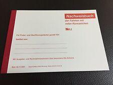 Nachweisbuch rote Kennzeichen / Fahrtenbuch NEU