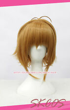 TSUBASA Sakura Kinomoto Cosplay wig Costume Brown colour