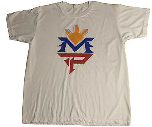 Manny Pacquiao NEW Men's XL Graphic Shirt MP Boxing World Title Champion Large