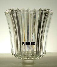 Home Interiors Clear Ribbed Votive Cup w/ rubber grommet
