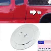 99-06 For Chevy Silverado Triple Chrome Plated ABS GAS TANK FUEL Door Cover TRIM