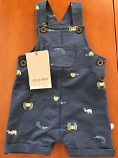 MinyMo (Denmark) Nwt Blue Cotton Knit Spider Overall- Newborn-1 Month