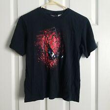 Spiderman-3 Boy's Movie Promo Graphics T-shirt ~ Black, Red ~ Size 10/12