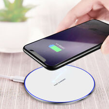10W Metal Qi Wireless Charger Fast Charging Mat For iPhone XS Max Samsung S10 S9
