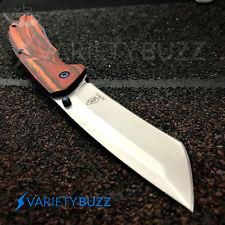"""8"""" Buckshot Silver Spring Assisted Open Tanto Blade Tactical Pocket Knife Wood"""