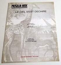 Partition vintage sheet music NIAGARA : Le Ciel s'est Déchiré * 90's