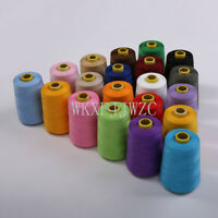 8000 Yards Industrial Overlock Sewing Machine Polyester Thread Sewing 20color#`