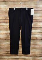 Lululemon Athletica Mens ABC Classic Pants Chino Black 38x32 New NWT LM5583S