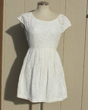 Forever 21 Short Sleeve Cream Lace Women's Short Dress size Small ~ NWT