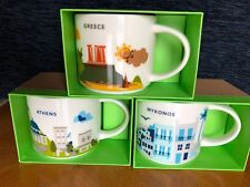 Starbucks Coffee 3x 'You Are Here' ATHENS & MYKONOS & GREECE YAH City 3 Mugs!