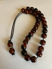 More details for vintage red possibly bakelite lucite prayer worry beads