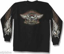 T-Shirt ML LIVE FREE EAGLE - Taille M - Style BIKER HARLEY