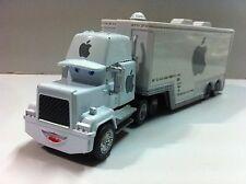 Disney Pixar Car Mack White Apple Racer's Hauler Truck 1:55 Loose New In Stock