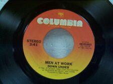 """MEN AT WORK """"DOWN UNDER / CRAZY""""  45"""