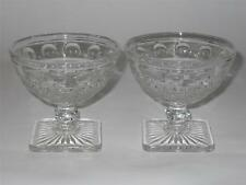 Imperial ~ Tradition ~ Clear Glass Square Footed Sherbets (2) ~ Dessert Dish