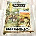 Rare Exposicion Agricola Mexico Zacatecas 1965 Orig Poster agriculture travel