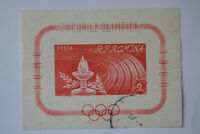 Stamp Romania 1960 IMPERF Roma/Rome OLYMPIC GAMES SS/MS Mi BL47 YT BF48 SGMS2730