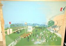 "RAOUL DUFY ""RACE AT DEAUVILLE"" HUGE COLOR SILKSCREEN"