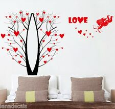 Tree Red Flowers Birds Home Art Decor Removable Wall Sticker Decal SL863