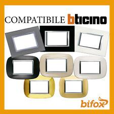 BTICINO AXOLUTE placca 4 moduli posti Monochrome antracite HA4804HS