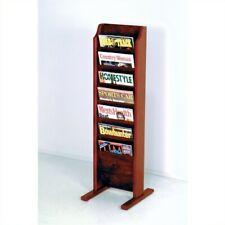 Pemberly Row Free Standing 7 Pocket Magazine Rack in Mahogany