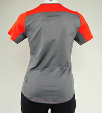 Pearl Izumi Women's Canyon Cycling Jersey, Poppy Red/Smoked Pearl, Size Small