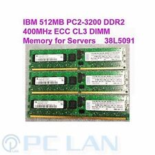IBM 512MB PC2-3200 DDR2-400MHz Registed ECC CL3 DIMM Memory for Servers 38L5091