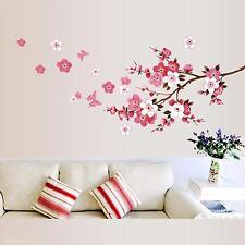 Tree Wall Sticker Blossom Pink Flower Branch Mural Girls Home Decor Wall Decal