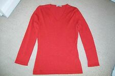 Cesare Gatti-red cashmere/silk sweater.IT 42.Worn twice.