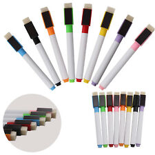 8 colour set magnetic white board marker pens dry erase eraser, easy whiteboard