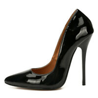 Men's Pumps Skull High Heels Patent Leather Drag Queen Crossdresser Trans Shoes