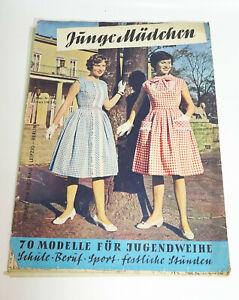 Junge Mädchen Verlag für die Frau Bestell Nr 1466 Schnittmusterbogen 1960er DDR
