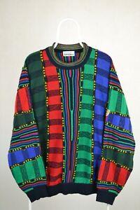 Mens Carlo Colucci Sweater Jumper Multicolor Vintage Size 54