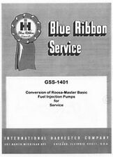International D-166 D-188 D-236 Conversion Roosa Master Injection Service Manual