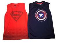 NWOT Sleeveless Superman 8-10 Captain America Civil War Shirt Boys Size 10-12